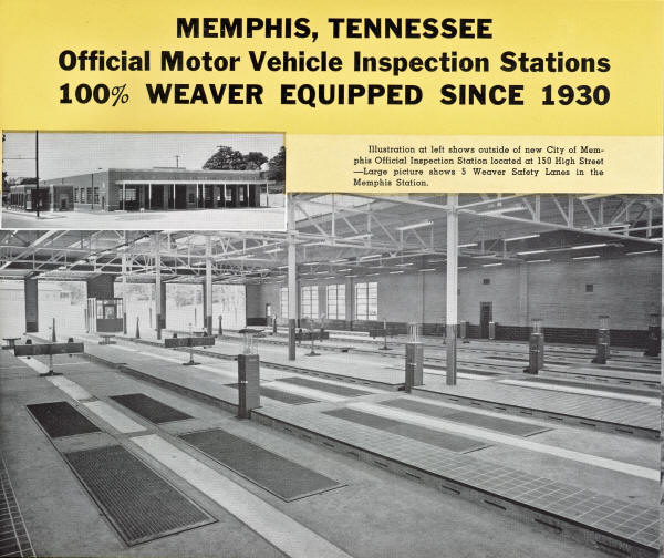 Weaver Safety Lanes in Memphis, TN from 1930