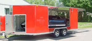 Castle Equipment Trailex Aluminum Car Hauler Trailers Open