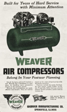 Weaver AD for Air Compressor - 1944