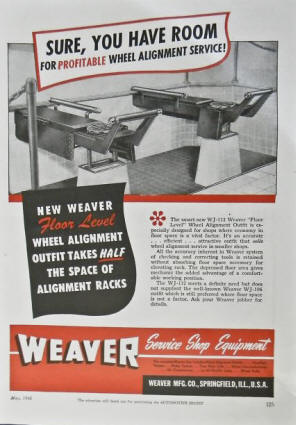 Weaver AD for Alignment Service - 1948