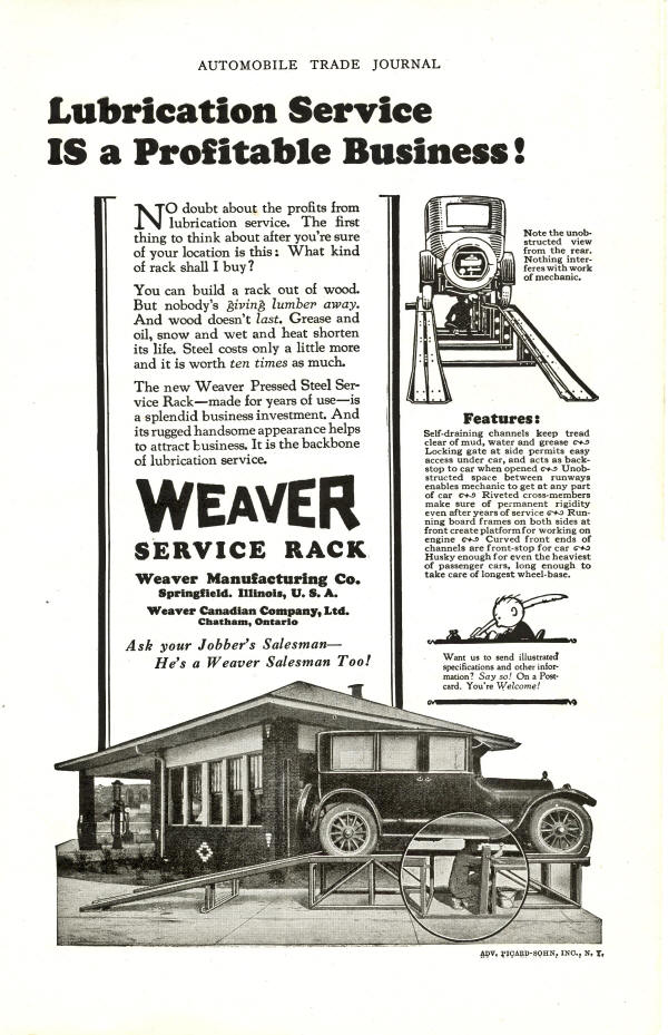 Weaver AD for Lube Service Rack