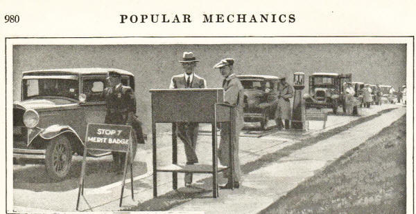 Weaver Safety Lane featured in magazine - Popular Mechanics of December 1930