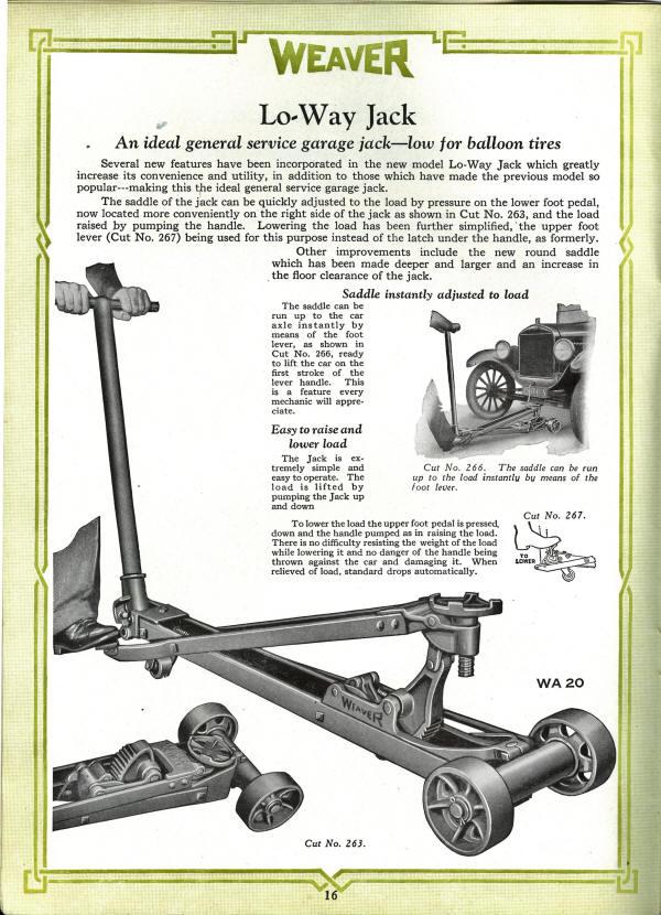 Castle Equipment Co Weaver Hydraulic Amp Mechanical Jacks