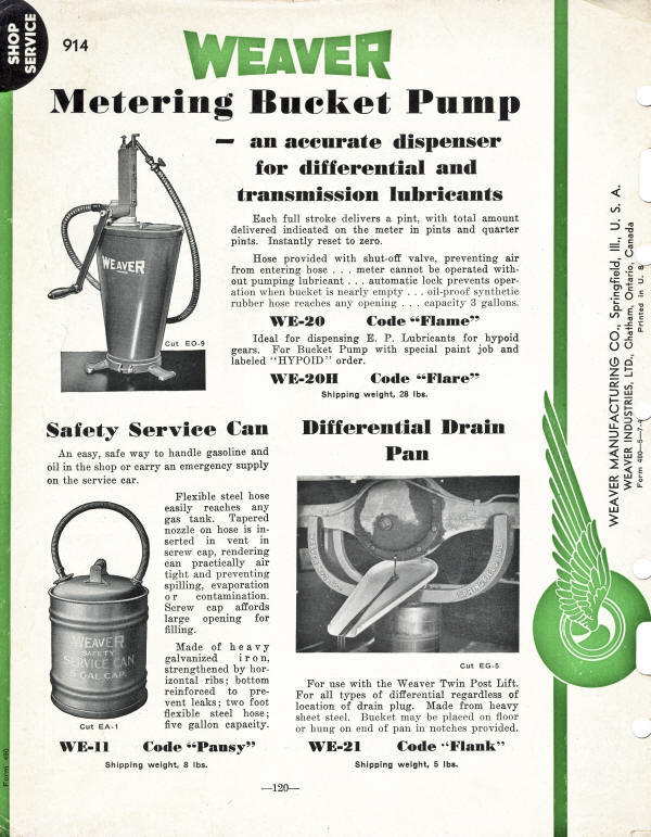 Weaver Pump and Safety Can