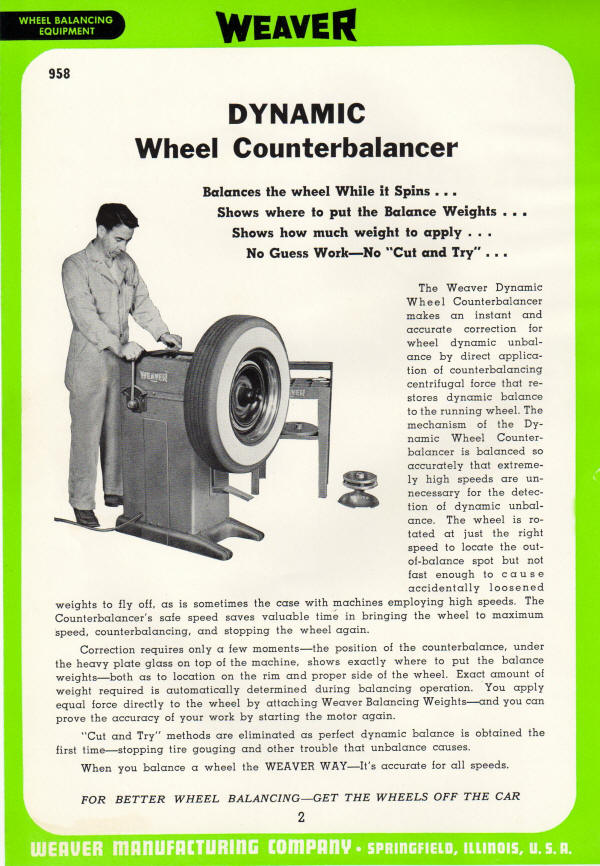 Weaver Dynamic Counter Balancer for Tires