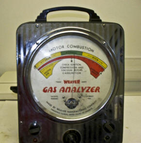 weaver Exhaust Gas Analyzer from 1939