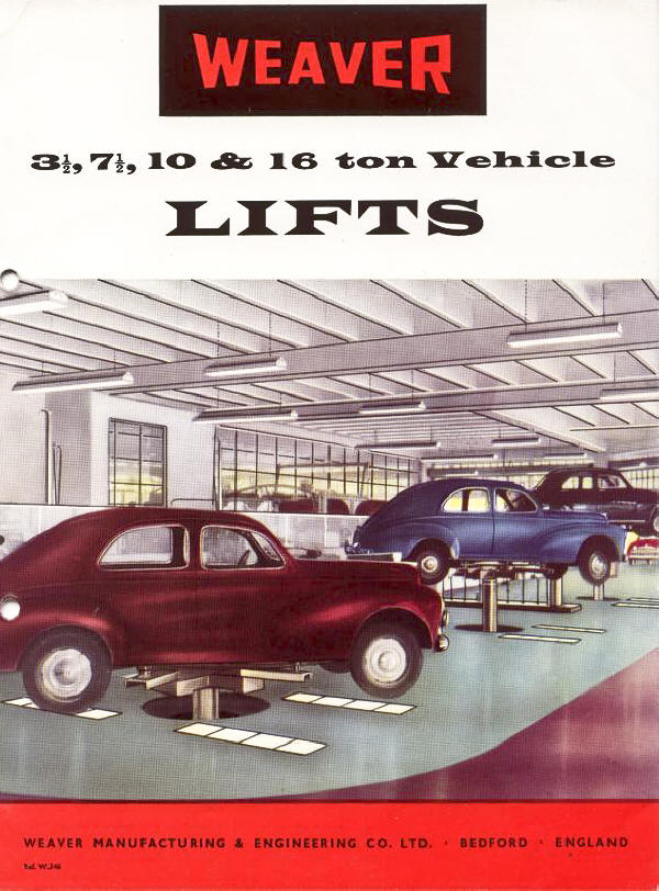 Weaver Lift Brochure from 1950 eara