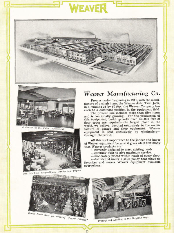 Weaver Manufacturing Company in 1927