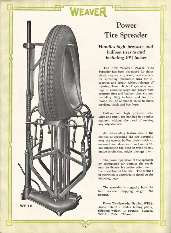 Weaver Tire Spreader