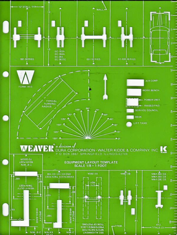 Weaver Design Template for Gargae Equipment Layout